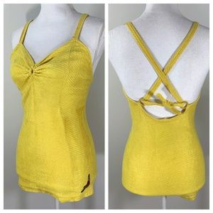 Vintage 30s Jantzen Yellow Swimsuit Tie Back
